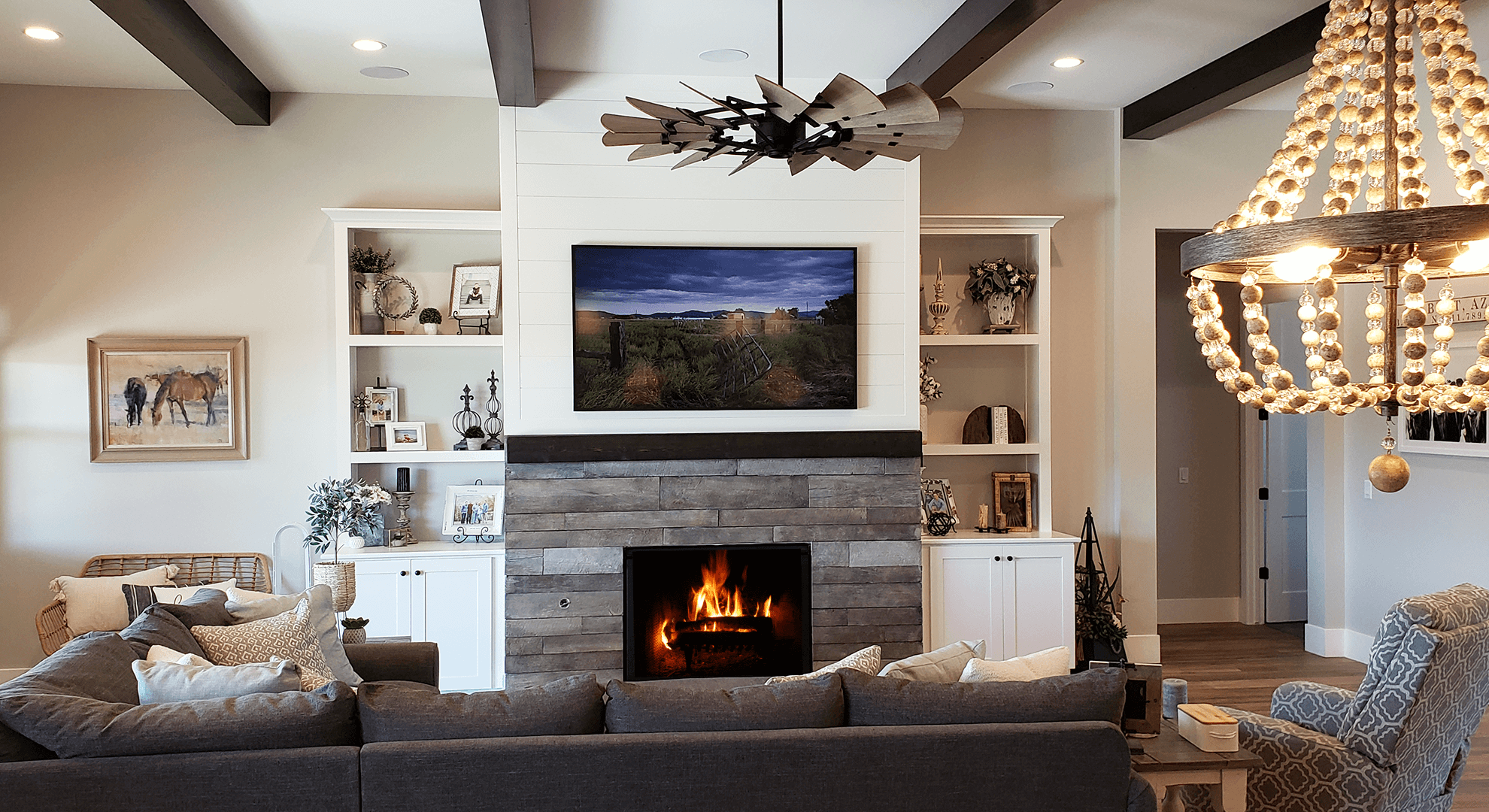 Living area of Arizona luxury homes designed by Resurrection Builders